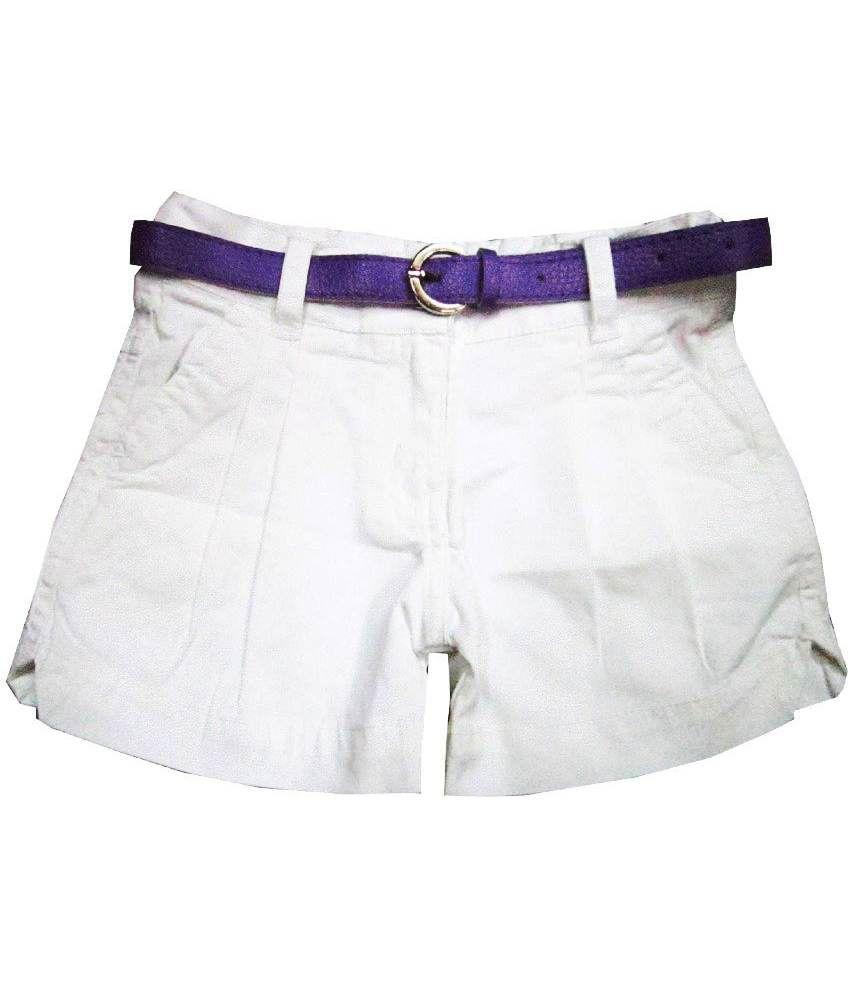 Catapult Girl's White Shorts