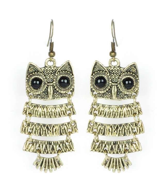 Cinderella Fashion Jewelry  Cute Owl Earrings