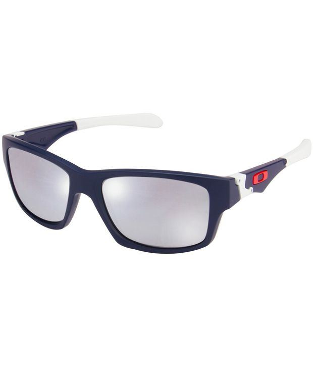 blue and silver oakley sunglasses  oakley oo9135 02 jupiter squared jupiter matte blue white silver mirror sunglasses