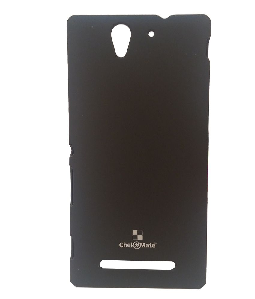 best sneakers f9c50 0aecf Fuson Hard Back Cover For Sony Xperia C3 Dual D2502 S55t - Black + Free  Mobilex Key Chain Silver