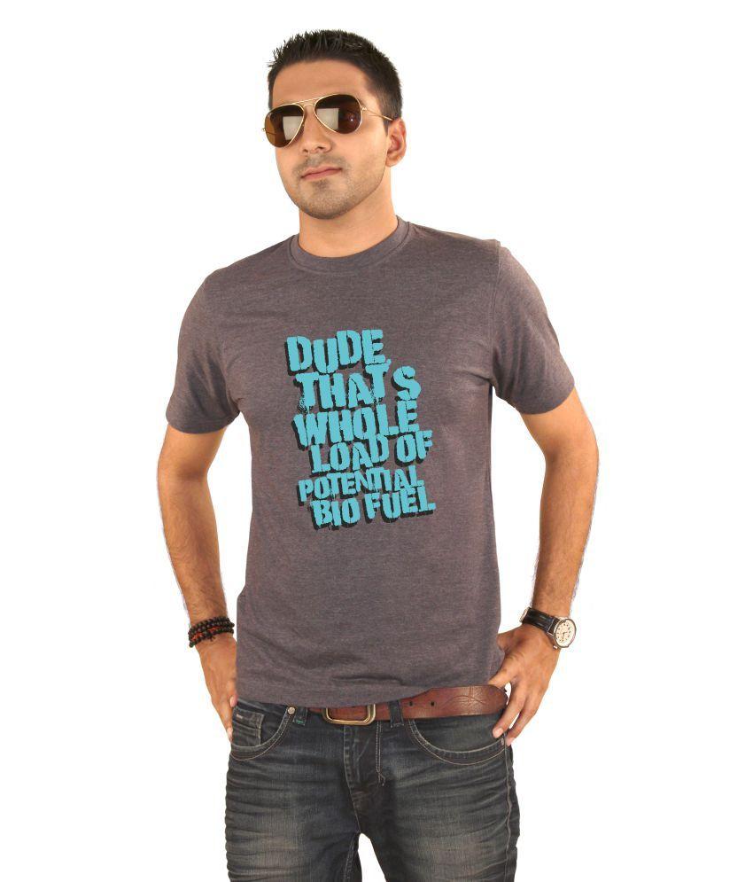 Hung Shoe Bull Shit Men's Grey T-shirt