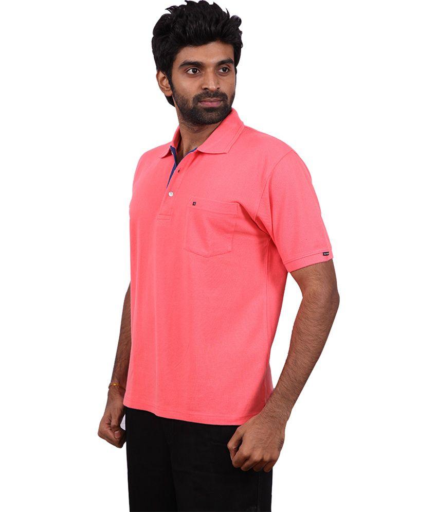 Karlsburg Peachpuff Cotton Half Sleeve T-shirt