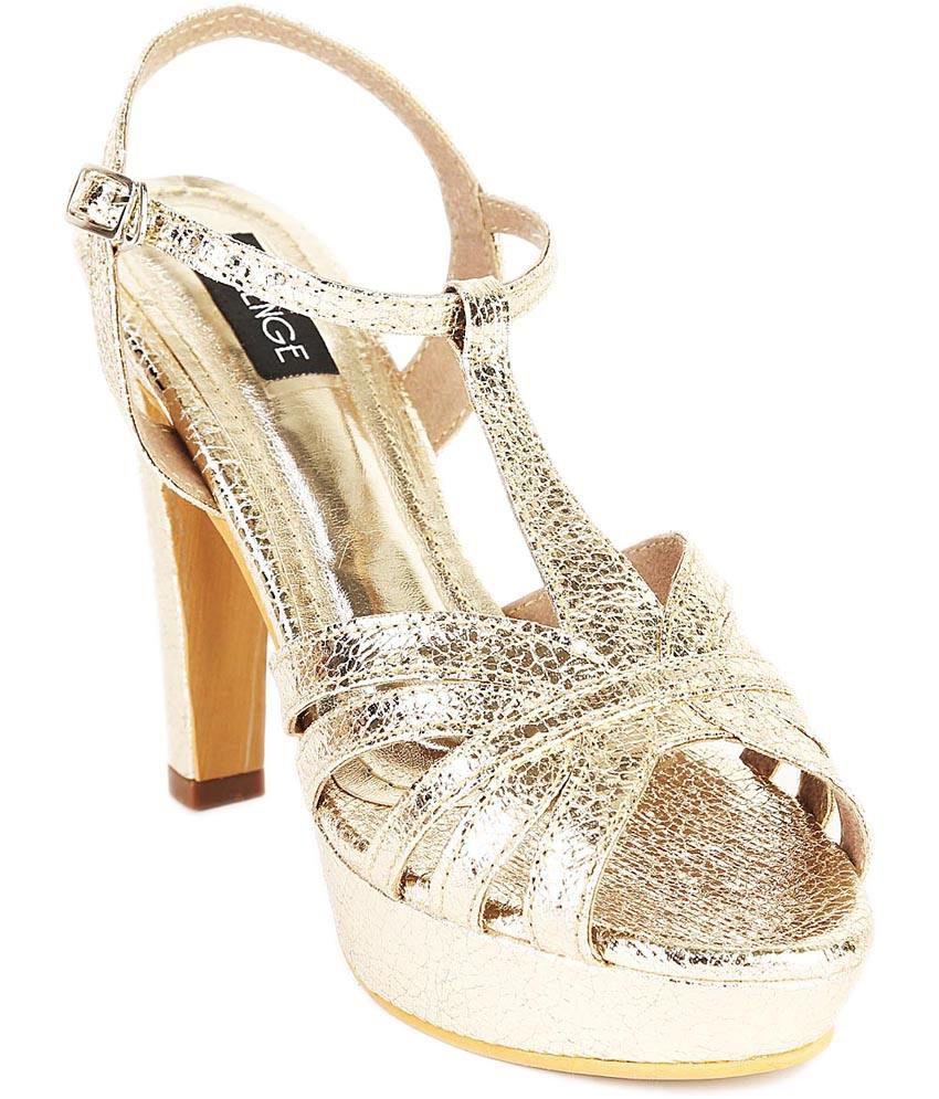 Lozenge Gold High Heel Cross Strap Heeled Sandal