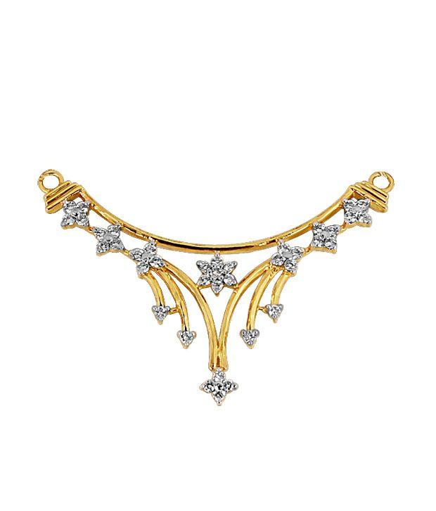 Shankaram 18kt Yellow Gold Diamond Mangalsutra