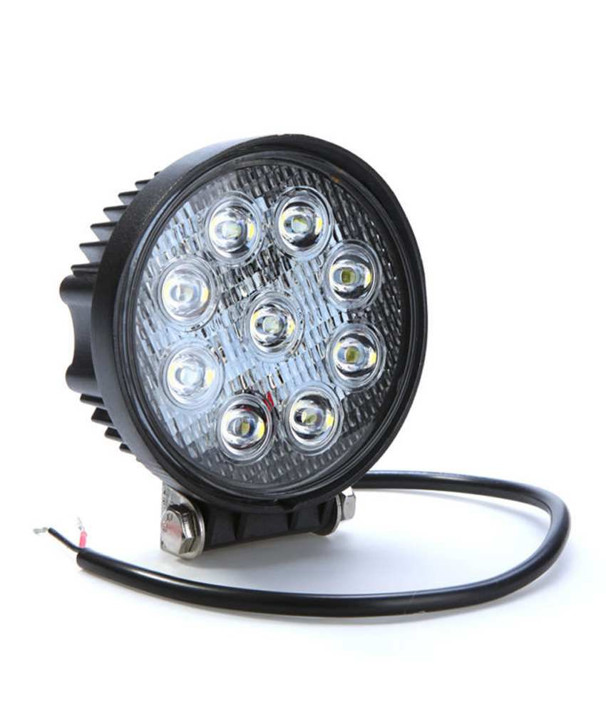 9d 27w Led Add On Focus Fog Lamp For Cars And Bike: Buy 9d