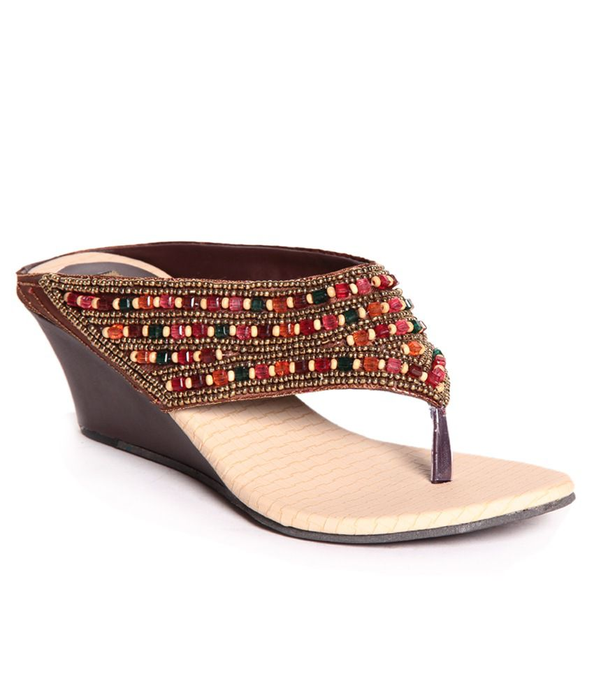 Anand Archies Brown Slip-on Heels