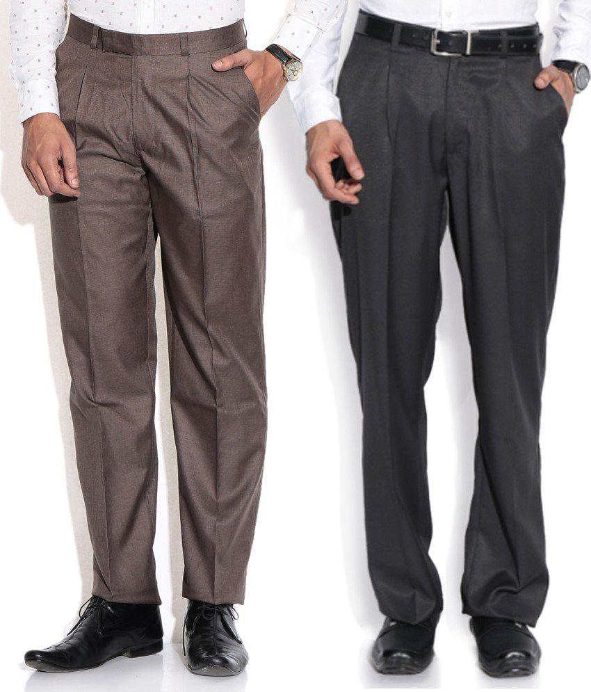 Aumentare Black Regular Formals Combo Of 2