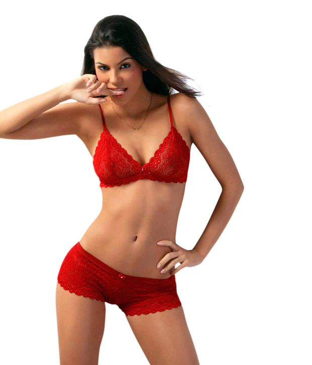 ebe01e458 Buy Lady Love Lingerie Maroon Non-padded Cotton Bra   Panty Sets Online at  Best Prices in India - Snapdeal