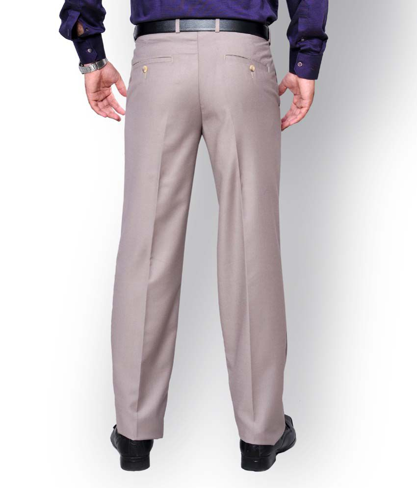 5d29bbd3cbc Oxemberg Men Cream Regular Formal Trousers - Buy Oxemberg Men Cream ...