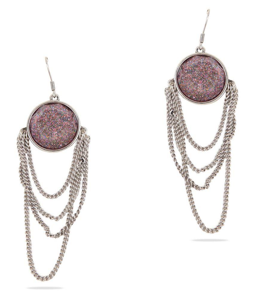 Svelte Style Diva Silver Hangings