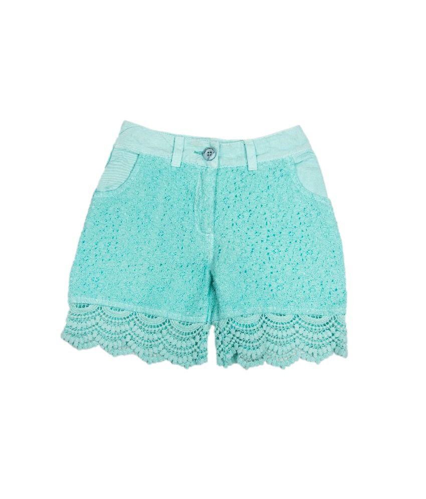 Ufo Mint Blue Color Shorts For Kids