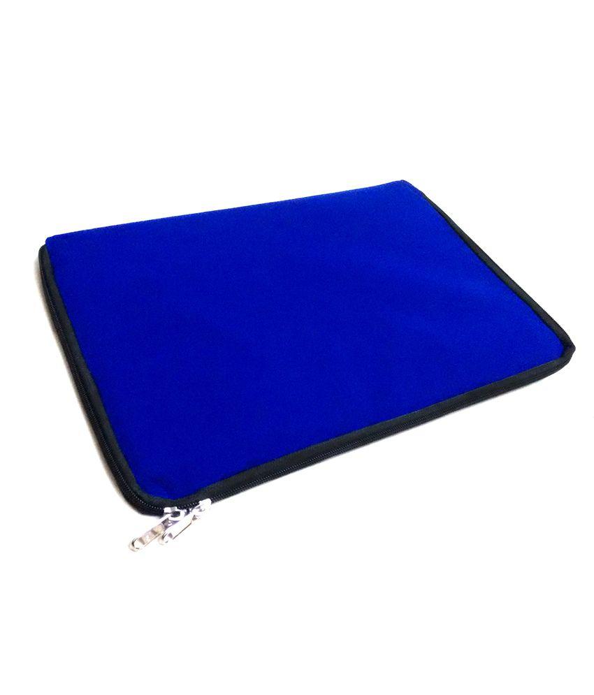 Tgraphics Water Proof Velvet Laptop Sleeve Bag For 13 & 14 Inch Laptops - Blue