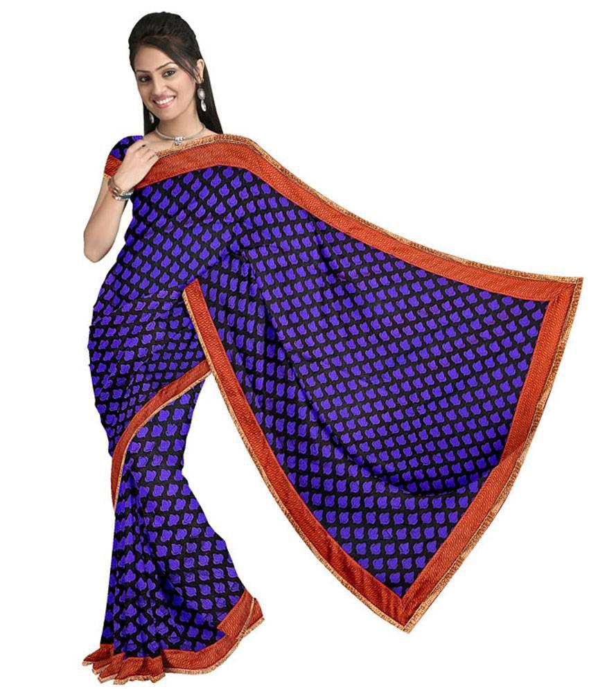 Vandana Fashion Black Cotton Silk Banarasi Saree With Blouse Piece