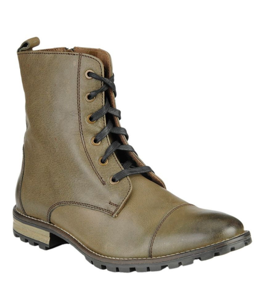 Delize Olive Boots