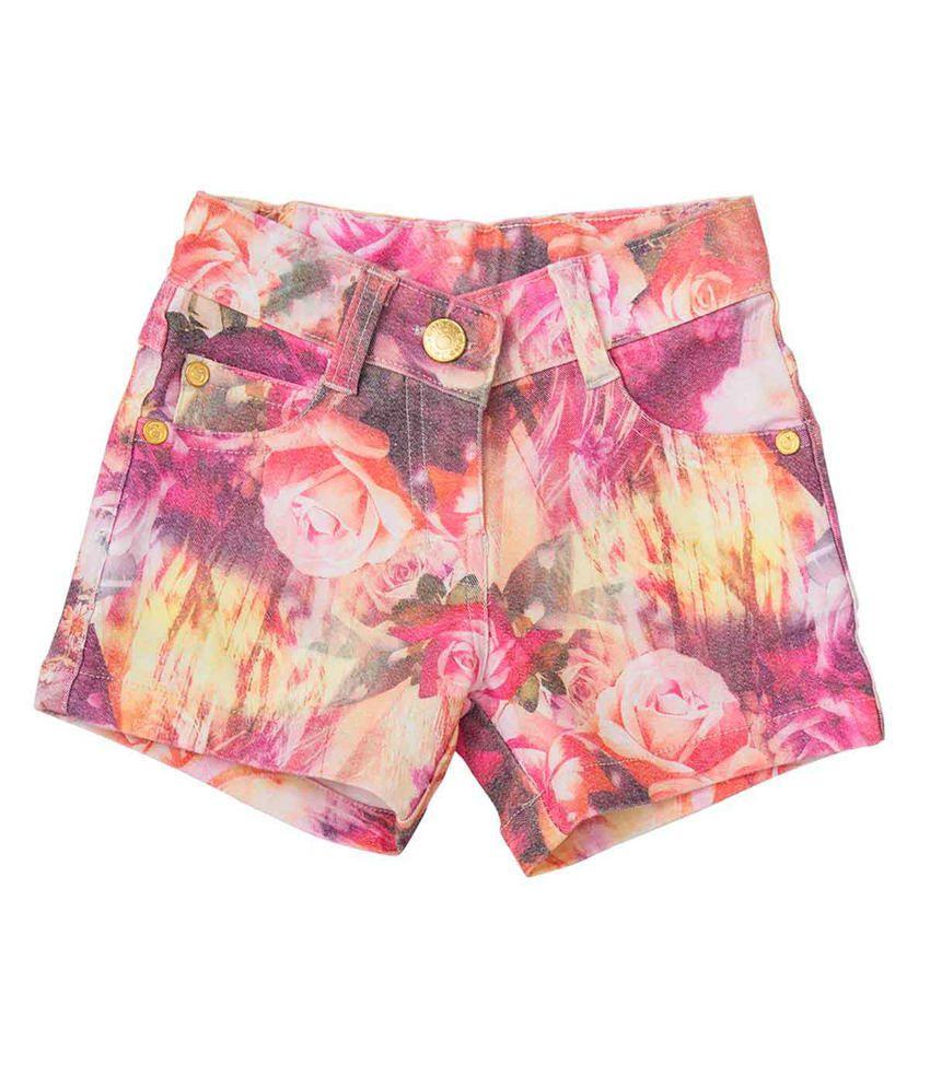 Tangerine Pink Cotton Shorts