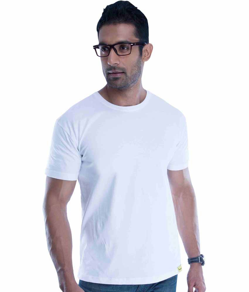 Double F White Round T-Shirt