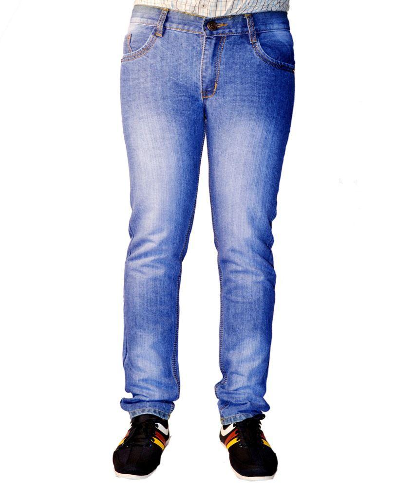 Ansh Fashion Wear Fashion Wear Streachable Blue Men Denim Jeans