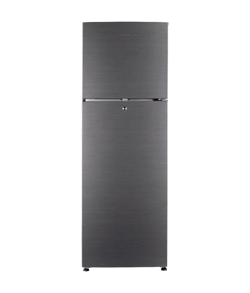 Haier 247 Ltr 3 Star HRF-2674BS-R Double Door Refrigerator - Brushline Silver