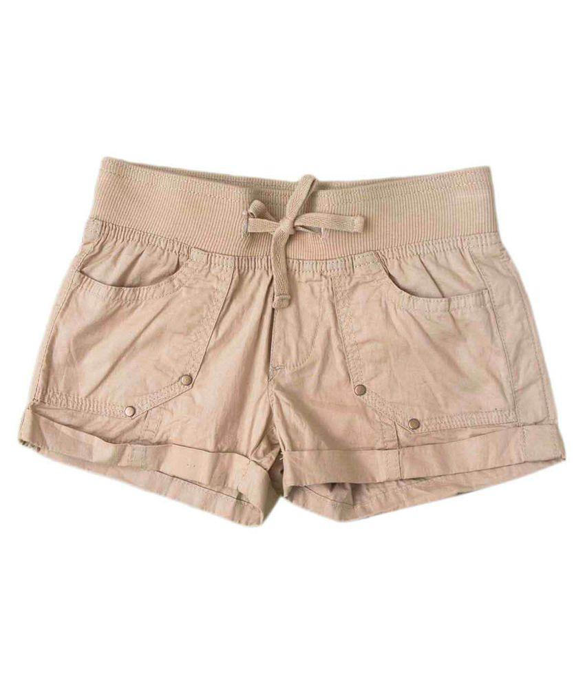 This n That Brown Cotton Versatile Shorts