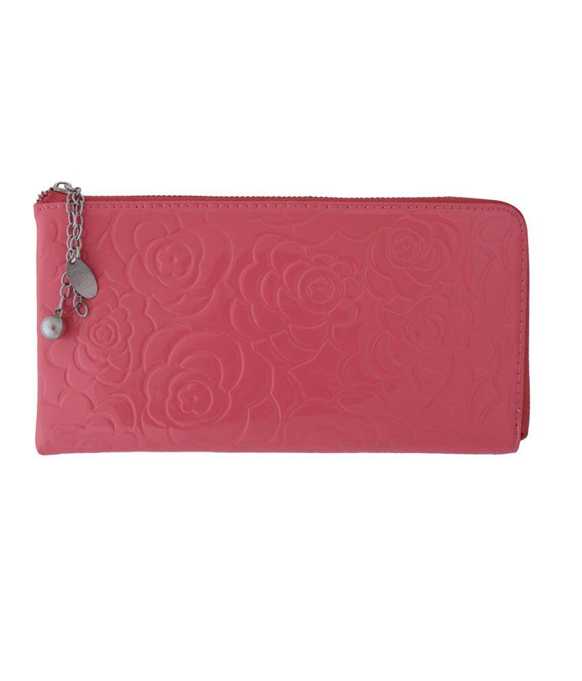 Itzmyfashion Pink Rose Wallet