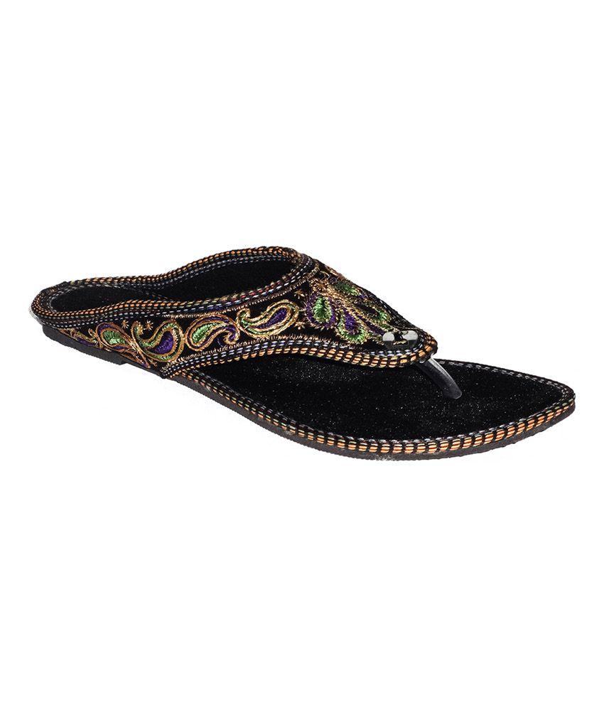 Jaipur Ebazaar Multicolor Faux Leather Flat