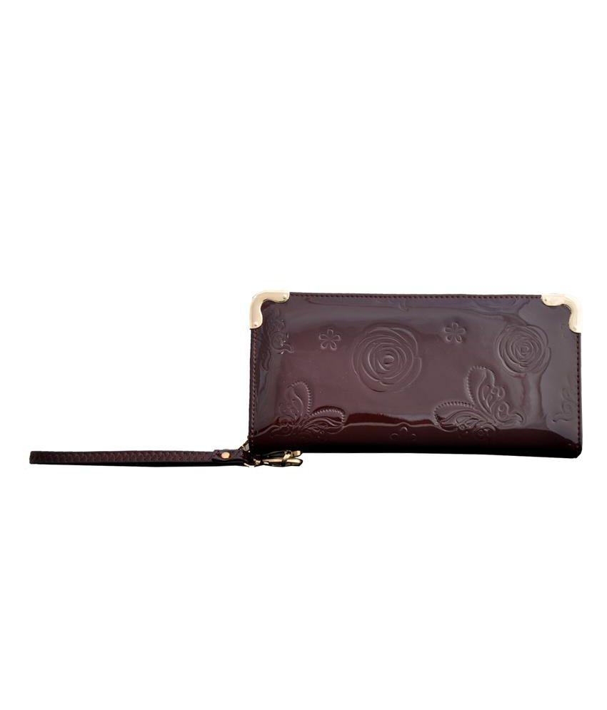 Lalana Brown Non Leather Women Regular Wallet