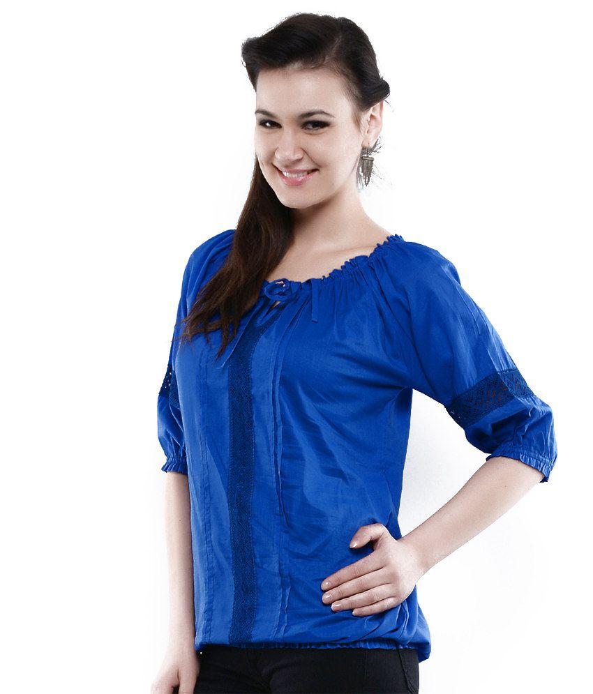 Fashion Unique Fashion Royal Blue Top