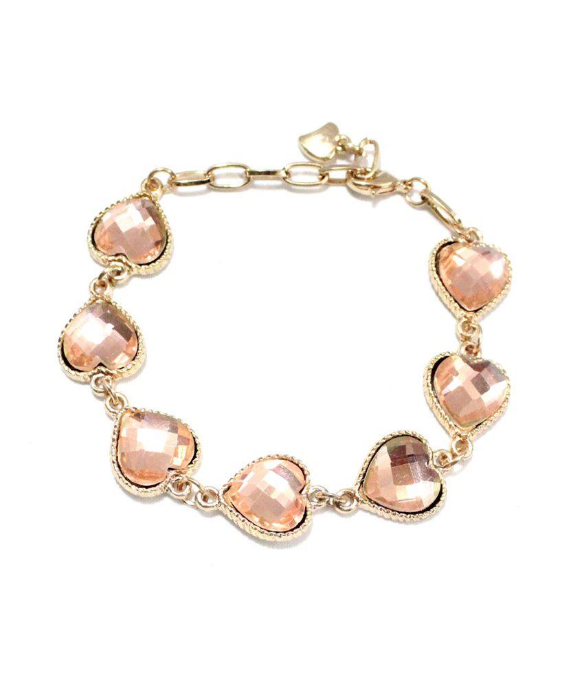 Voaka Hearts Bracelet Pink