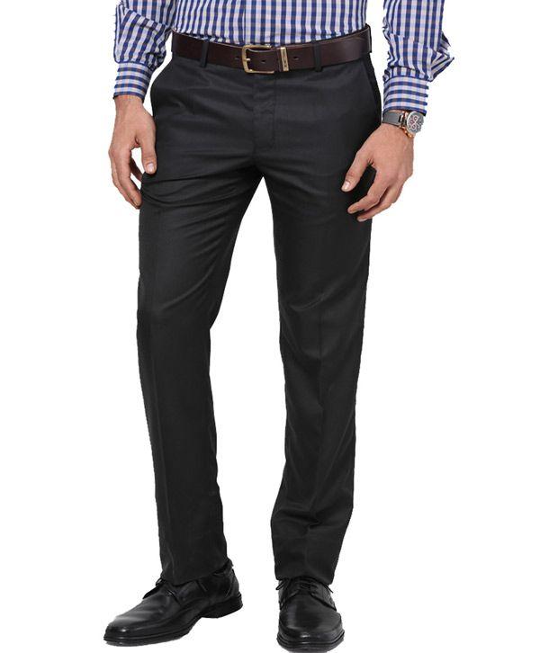 Lee Marc Black Regular Flat Trouser