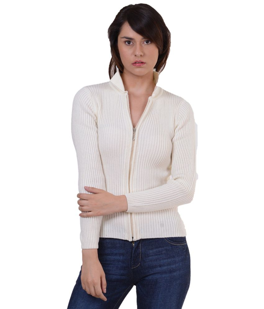 Buy Sportking Off White Cardigan Sweater For Women Online at Best ...