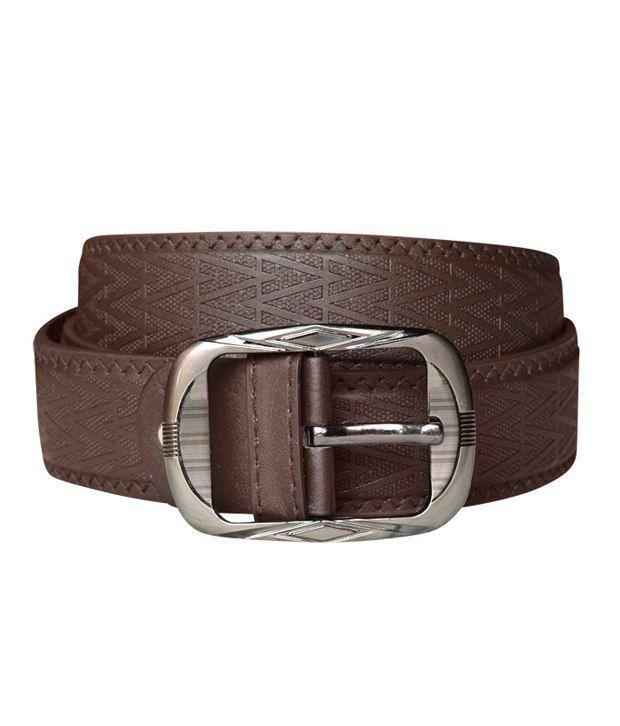 Bueva Brown Formal Belt (zigzag)