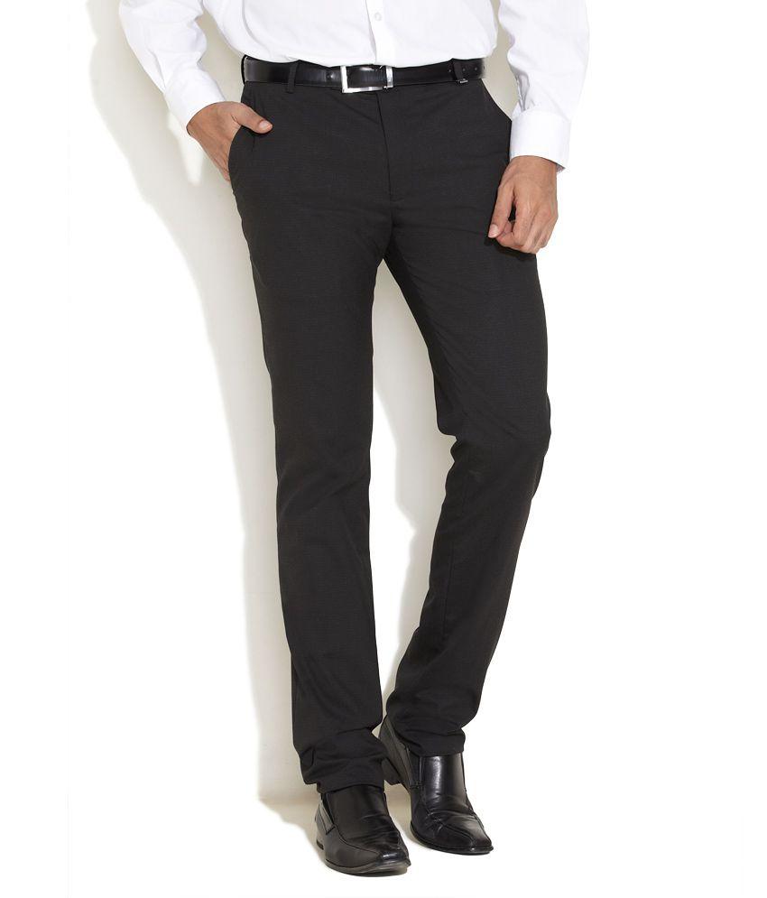 Indigo Nation Black Stretch Club Trousers