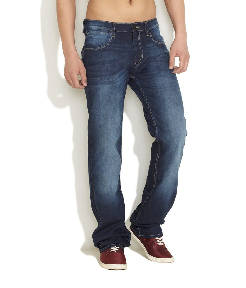 Lee Medium Blue Stretch Denim Jeans