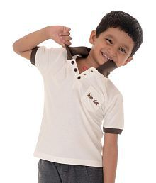 Bio Kid Cream Solids Half Sleeves Polo T-shirt