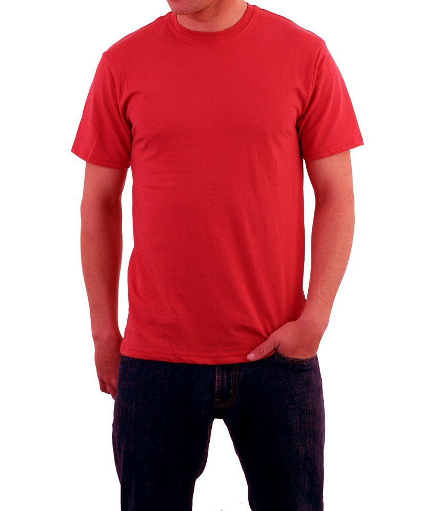 Kottonhood Red Round Neck Cotton T-shirt