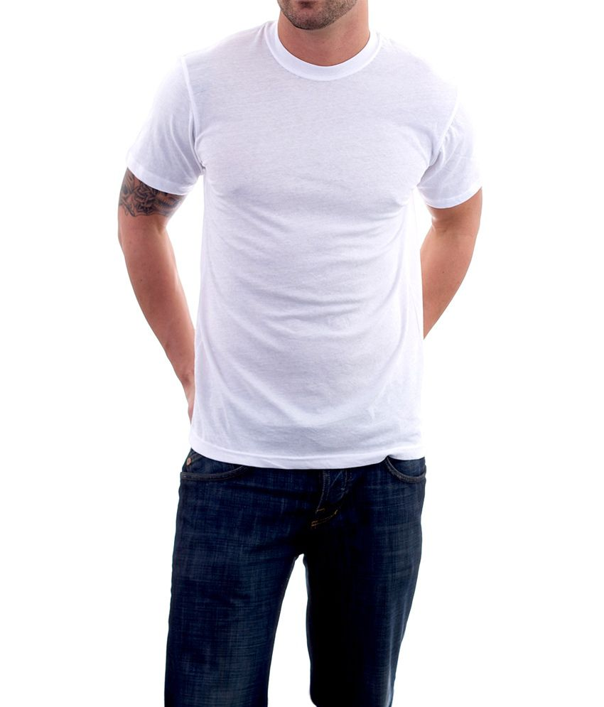 Kottonhood White Round Neck Cotton T-shirt