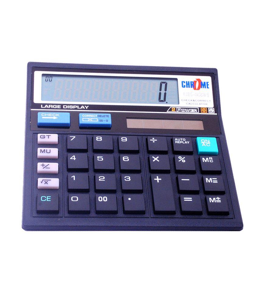 chrome basic mathematic calculator set of 1 pcs buy. Black Bedroom Furniture Sets. Home Design Ideas