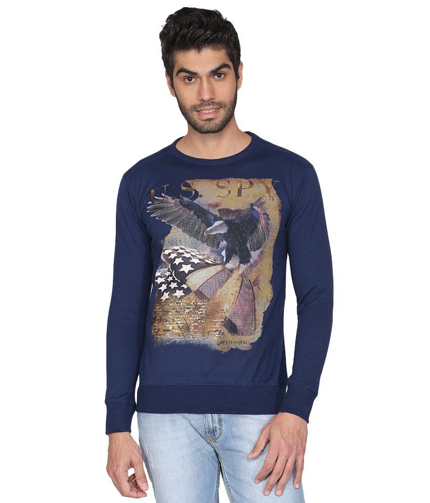 Status Quo Men Blue Casual T Shirts