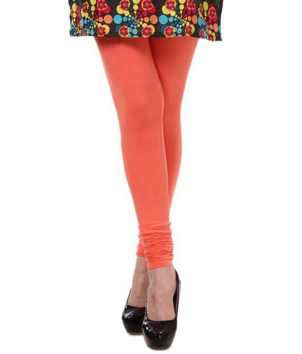 Femmora Peach Cotton Leggings