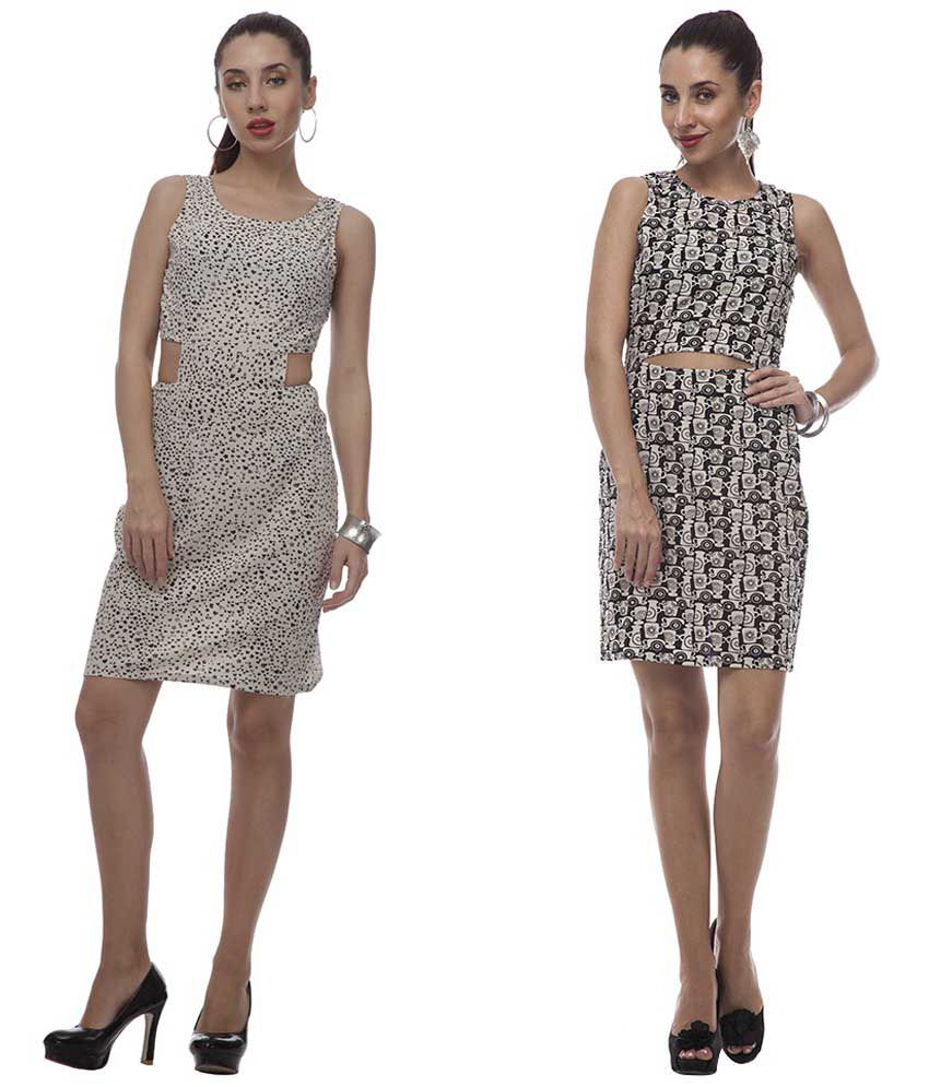 At499 Multi Polyester Dresses
