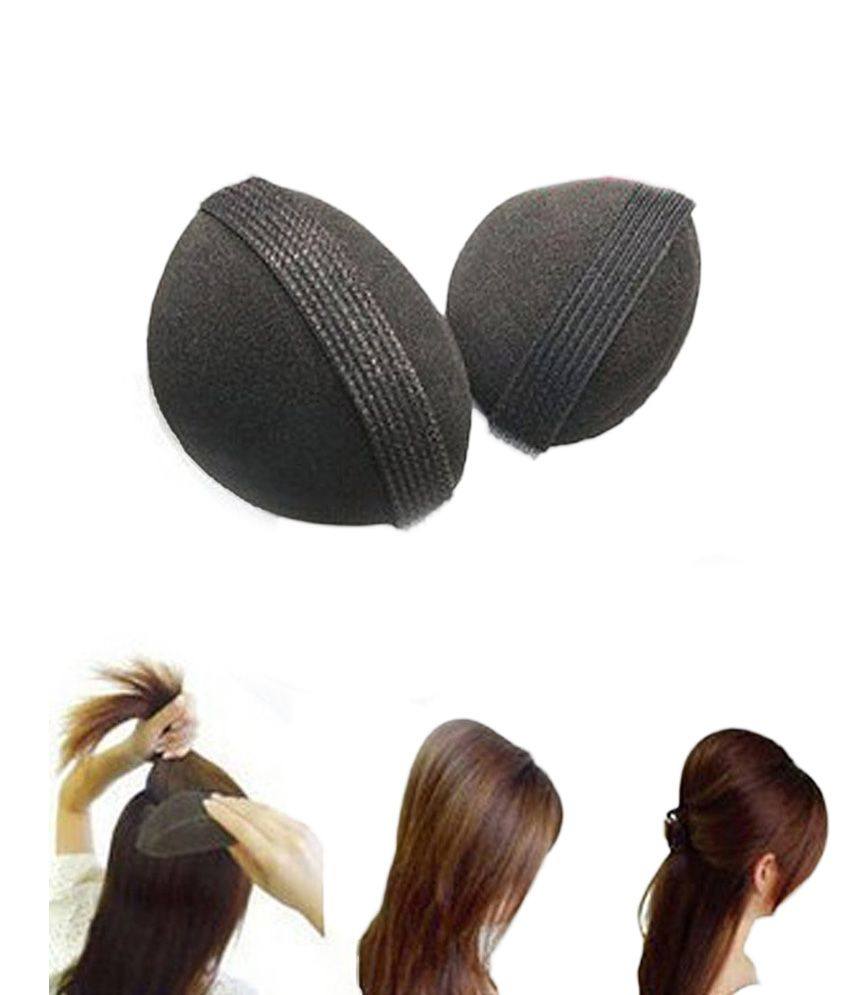 Hair accessories online snapdeal -  Hair Style Bumpits Comfort Premium Silk Yarn And Sponge Leave Hair Accessories