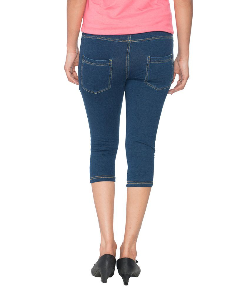 3ead18eaa58 Buy Prisma Blue Cotton Capris Online at Best Prices in India - Snapdeal
