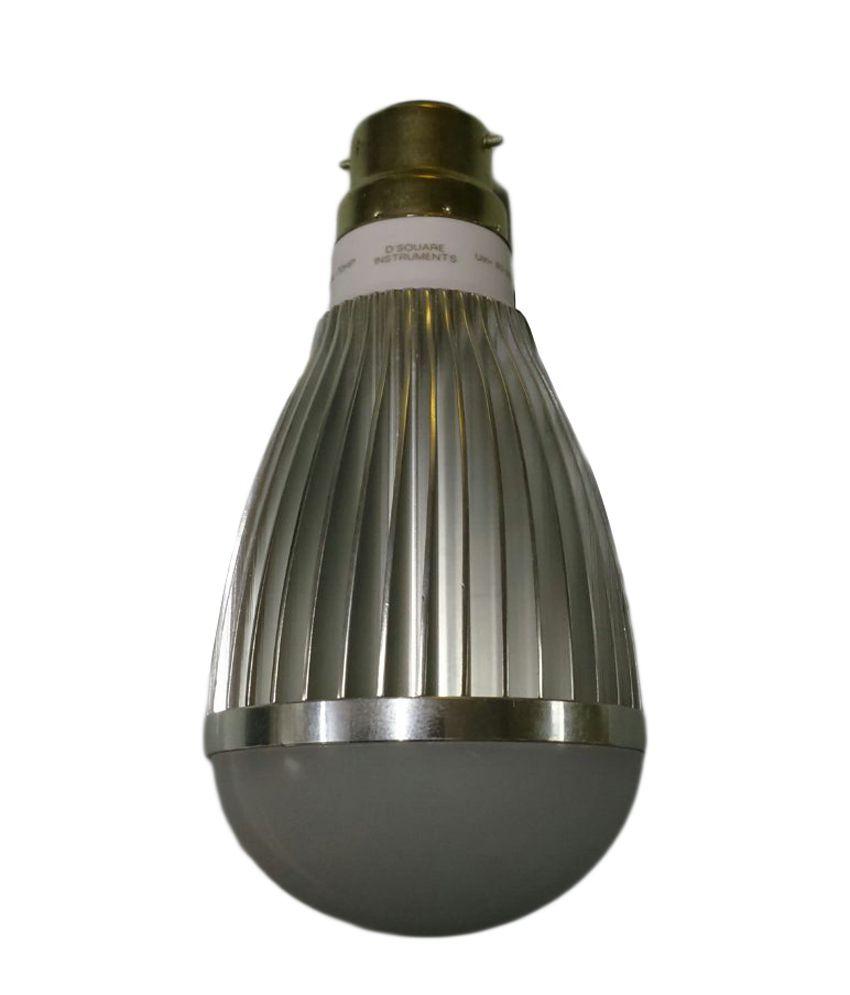D-square White Round Aluminium Led Bulb Light
