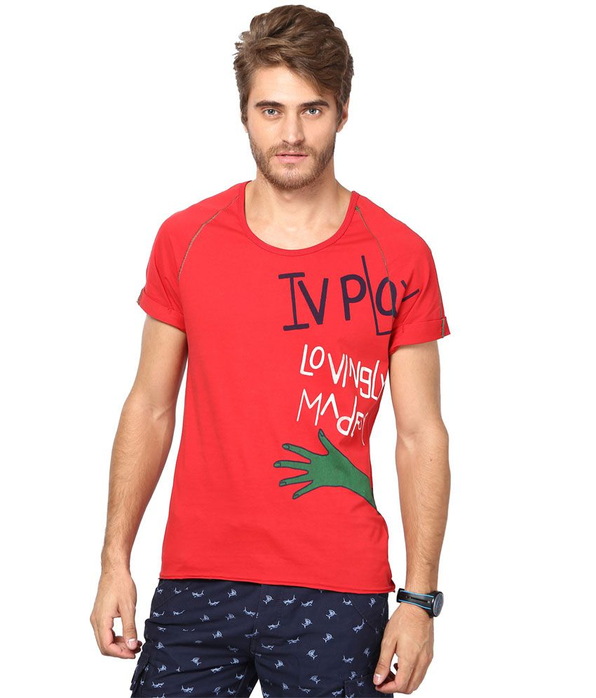 Ivpl@y T Shirt Red