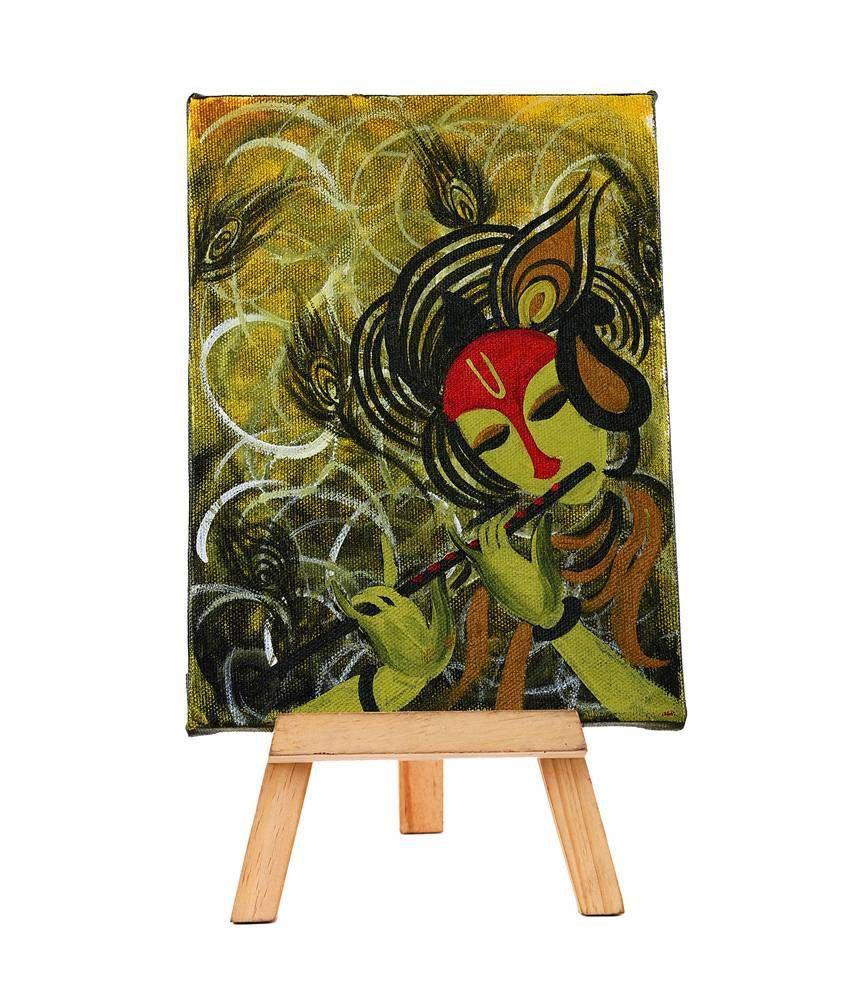 Rang Rage Classy Mini Easelmajestic Krishnaby Rang Rage Painting