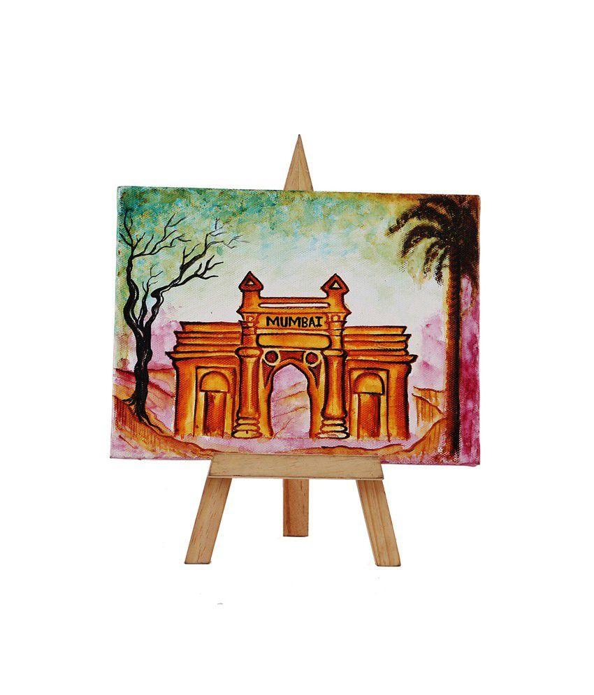 Rang Rage Funky Mini Easel Pride Of Mumbai Painting