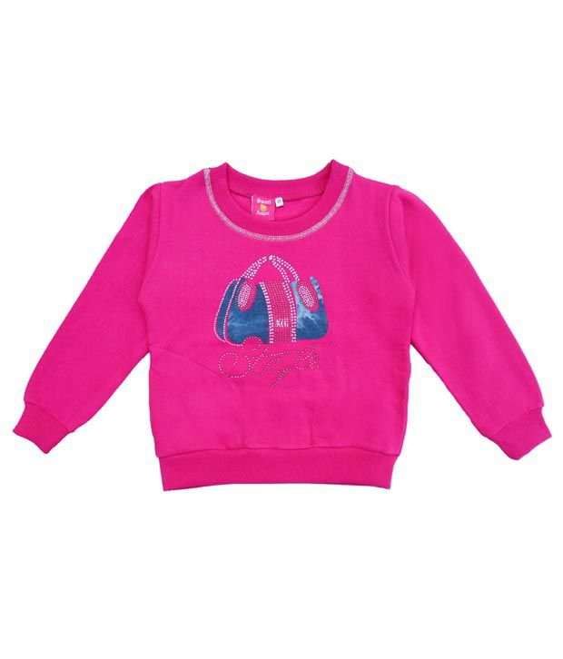 Sweet Angel Classy Pink Sweatshirt For Girls