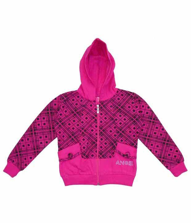 Sweet Angel Pink Hooded Sweatshirt For Girls