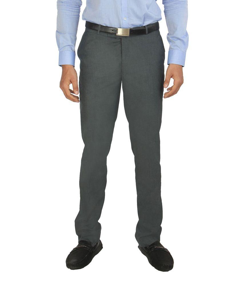 Zido Blue Formal Slim Fit Trouser for Men_ZI14020_BLUE_32