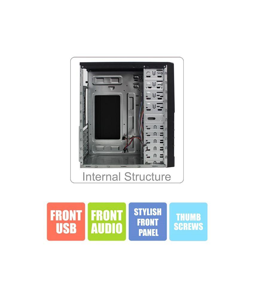 Zebronics Grill Desktop Pc Cabinet Without Smps Zeb113b